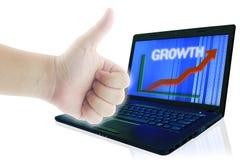 Concept d'affaires d'accroissement. Images libres de droits