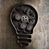 Concept d'affaires d'ampoule avec des vitesses de fonctionnement et des dents illustration stock