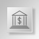 concept d'affaires d'icône de la banque 3D Illustration de Vecteur