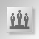 concept d'affaires d'icône du podium 3D illustration de vecteur