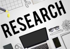 Concept d'affaires d'idées de planification de plan de recherches illustration stock