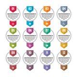 Concept d'affaires d'Infographic - bannières numérotées de vecteur L'option fait un pas des bannières Bannières d'emplacement Ban Images libres de droits