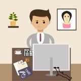 Concept d'affaires dans la conception plate workplace Vecteur illustration libre de droits
