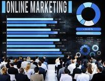 Concept d'affaires de commerce électronique de marketing en ligne Photographie stock libre de droits