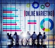 Concept d'affaires de commerce électronique de marketing en ligne Photographie stock