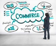 Concept d'affaires de commerce de promotion de vente de publicité Images libres de droits
