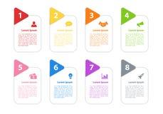 Concept d'affaires de conception d'Infographic Photos stock