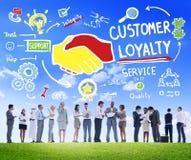 Concept d'affaires de confiance de soin de support après-vente de fidélité de client images stock