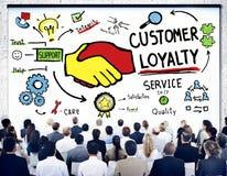 Concept d'affaires de confiance de soin de support après-vente de fidélité de client Photo libre de droits