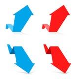 Concept d'affaires de croissance et de récession Image stock