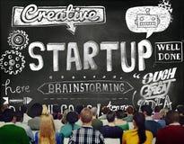 Concept d'affaires de lancement de jeune entreprise nouveau Photographie stock