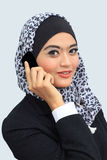 Concept d'affaires de Muslimah Photo stock