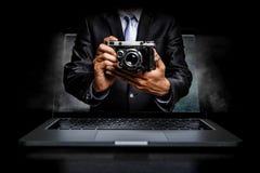 Concept d'affaires de photo Media mélangé illustration libre de droits