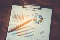 Concept d'affaires de plan de rapport de gestion Photographie stock