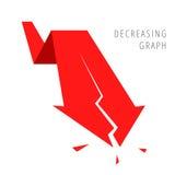 Concept 3 d'affaires de récession Photos libres de droits