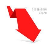 Concept d'affaires de récession Photographie stock