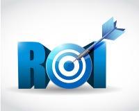 Concept d'affaires de retour sur l'investissement. cible Photos stock