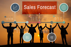 Concept d'affaires de stratégie de planification de prévision de ventes Photos stock