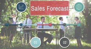 Concept d'affaires de stratégie de planification de prévision de ventes photo libre de droits