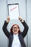 Concept d'affaires de succès et de croissance Un patron réussi de femme, Image libre de droits