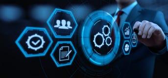 Concept d'affaires de système de processus de génie logiciel d'automation illustration stock