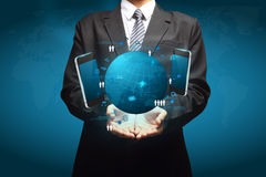Concept d'affaires de technologie à disposition Photos libres de droits