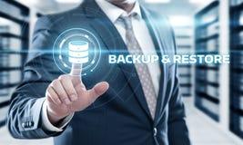 Concept d'affaires de technologie d'Internet de données de stockage de sauvegarde images stock