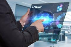 Concept d'affaires, de technologie, d'Internet et de réseau Homme d'affaires Photo stock