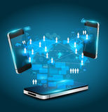 Concept d'affaires de technologie de téléphones portables de vecteur Image stock