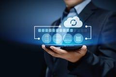Concept d'affaires de technologie d'Internet de données de stockage de sauvegarde photos libres de droits