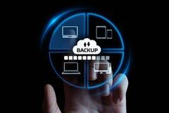 Concept d'affaires de technologie d'Internet de données de stockage de sauvegarde photo libre de droits