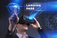 Concept d'affaires, de technologie, d'Internet et de réseau Jeune busine Photos stock