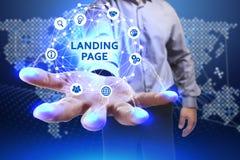 Concept d'affaires, de technologie, d'Internet et de réseau Jeune busine Images libres de droits