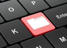Concept d'affaires : Dossier sur le fond de clavier d'ordinateur Photos libres de droits