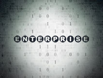 Concept d'affaires : Entreprise sur le papier de Digital Images stock