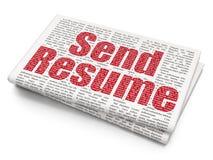 Concept d'affaires : Envoyez le résumé sur le fond de journal Images stock