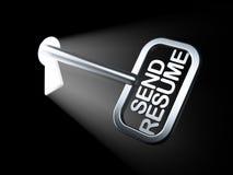 Concept d'affaires : Envoyez le résumé sur la clé Photo libre de droits