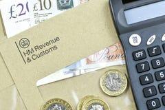 Concept d'affaires et de finances Lettre de HMRC image stock