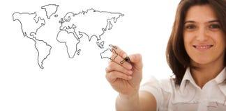 Concept d'affaires globales Images stock