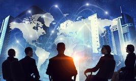 Concept d'affaires globales illustration de vecteur