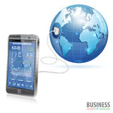 Concept d'affaires globales Photographie stock
