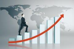 Concept d'affaires globales, de finances et de croissance illustration de vecteur