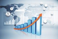 Concept d'affaires globales, de finances et d'hologramme illustration libre de droits
