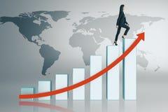 Concept d'affaires globales, de finances et de promotion illustration de vecteur