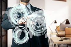 Concept d'affaires globales et d'innovation image stock