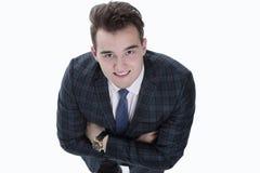 Concept d'affaires homme d'affaires sûr recherchant Photos stock