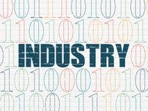 Concept d'affaires : Industrie sur le fond de mur Photo libre de droits
