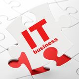 Concept d'affaires : Affaires informatiques sur le fond de puzzle Photos libres de droits