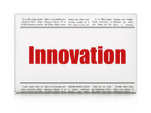 Concept d'affaires : innovation de titre de journal image libre de droits