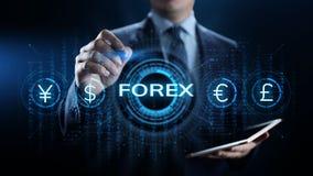 Concept d'affaires d'investissement d'Internet de taux de change de devise d'?changes de forex illustration libre de droits